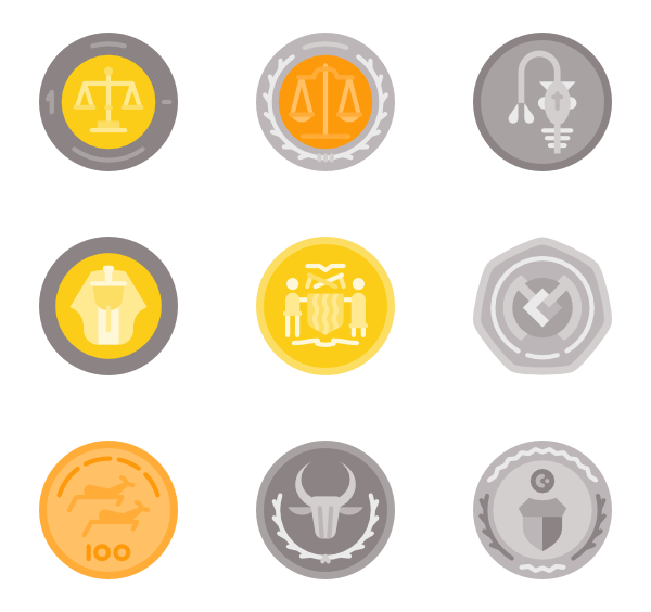 Vector coin psd. Euro icon packs