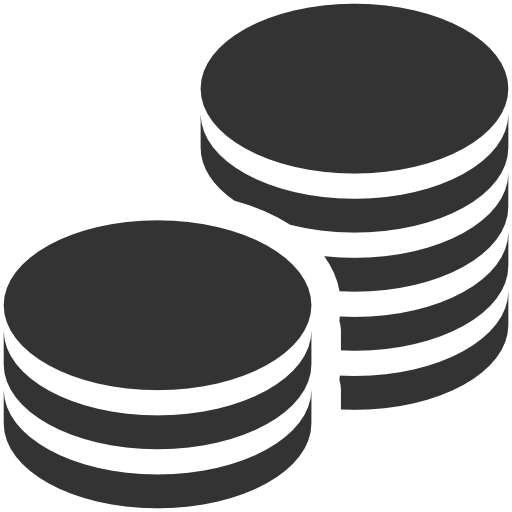 Vector coins. Icons free in for