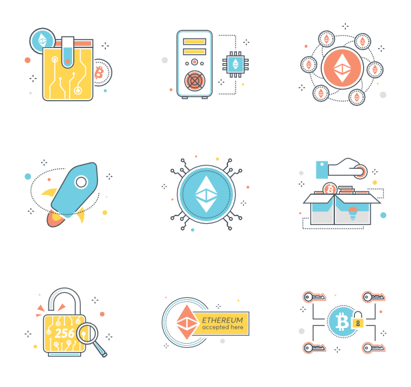 Coin icons free cryptocurrency. Vector coins line clip art transparent library