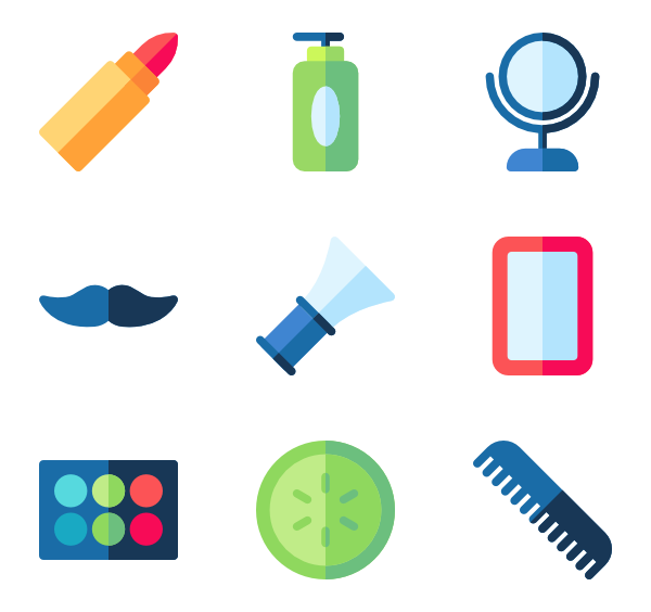 Vector toothbrush color. Hair brush icons free