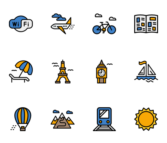 Vector colors piagam. Free icons svg psd