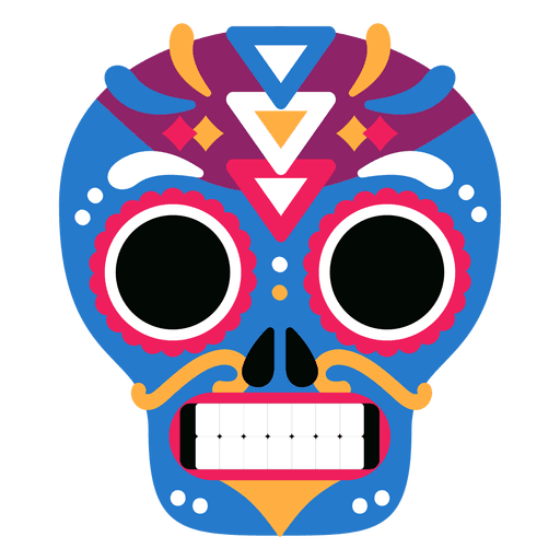 Vector colors skull. Colorful day transparent png