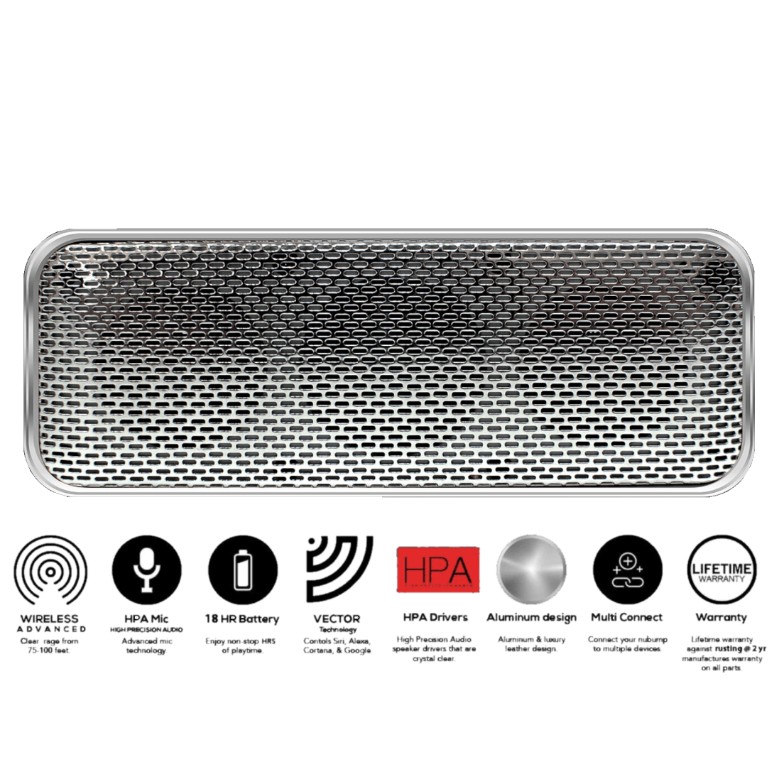 Fanstereo nubump bluetooth speaker. Leather vector goods svg stock