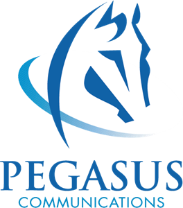 Vector communications. Pegasus logo eps free