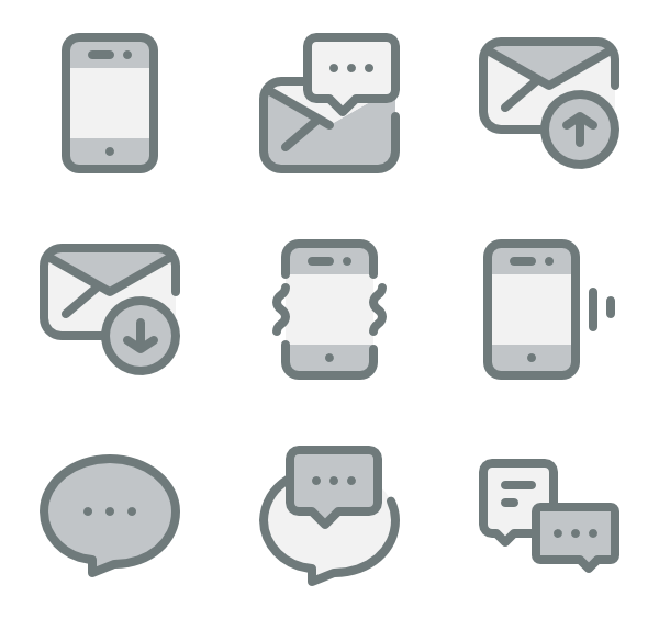 Vector communications notice. Notification icons free communication