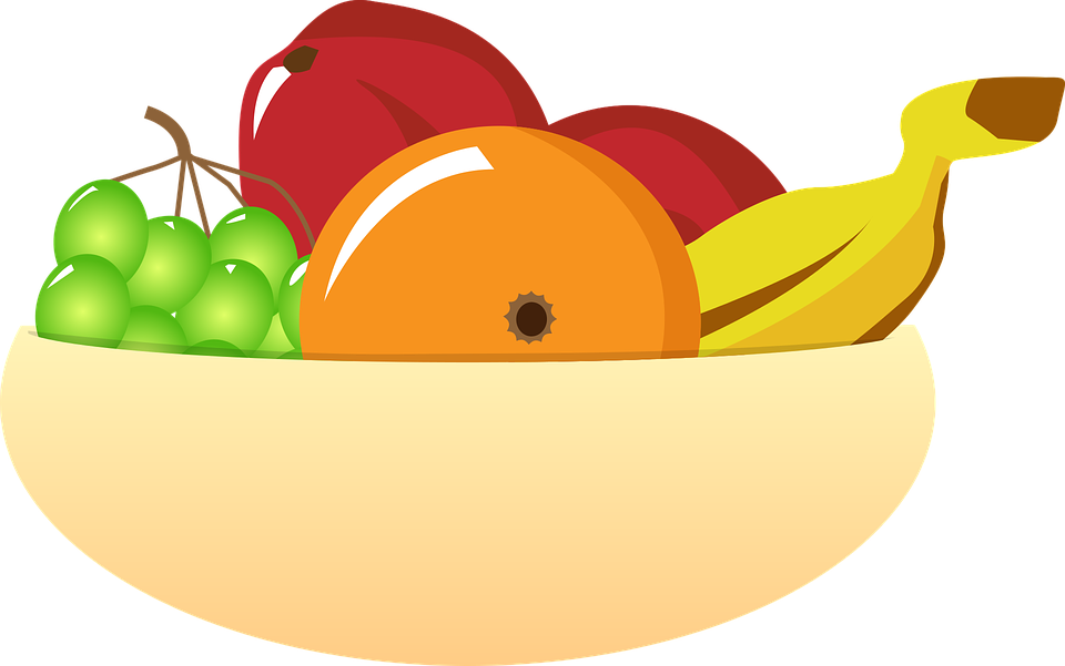 Vector fruits banner. Collection of free dieted