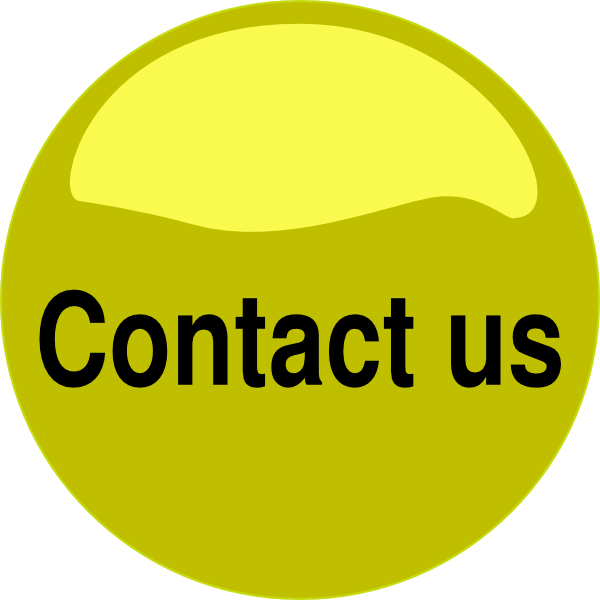 Vector contact button. Us yellow glossy clip