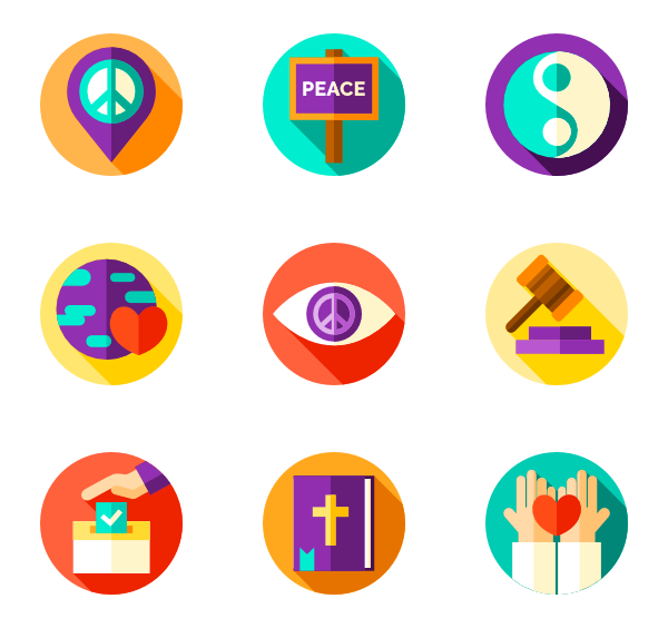 Vector contact connection. Icons free peace human