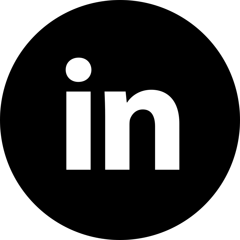 With circle svg png. Vector contact linkedin email transparent library
