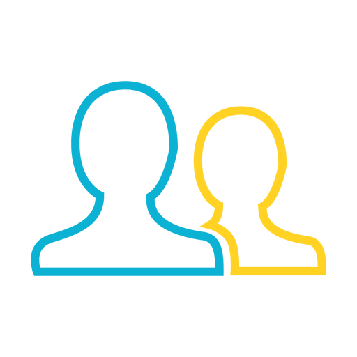 Vector contact svg. People head icon transparent