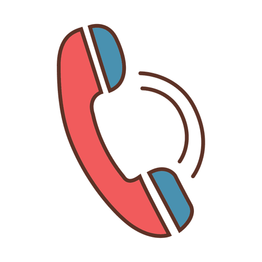 Vector contact transparent phone. Stroke call sign png