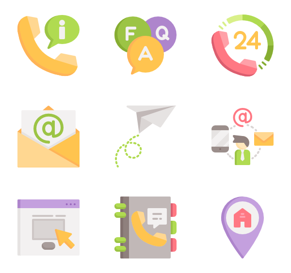 phone book icon. Vector contact us png clip transparent library
