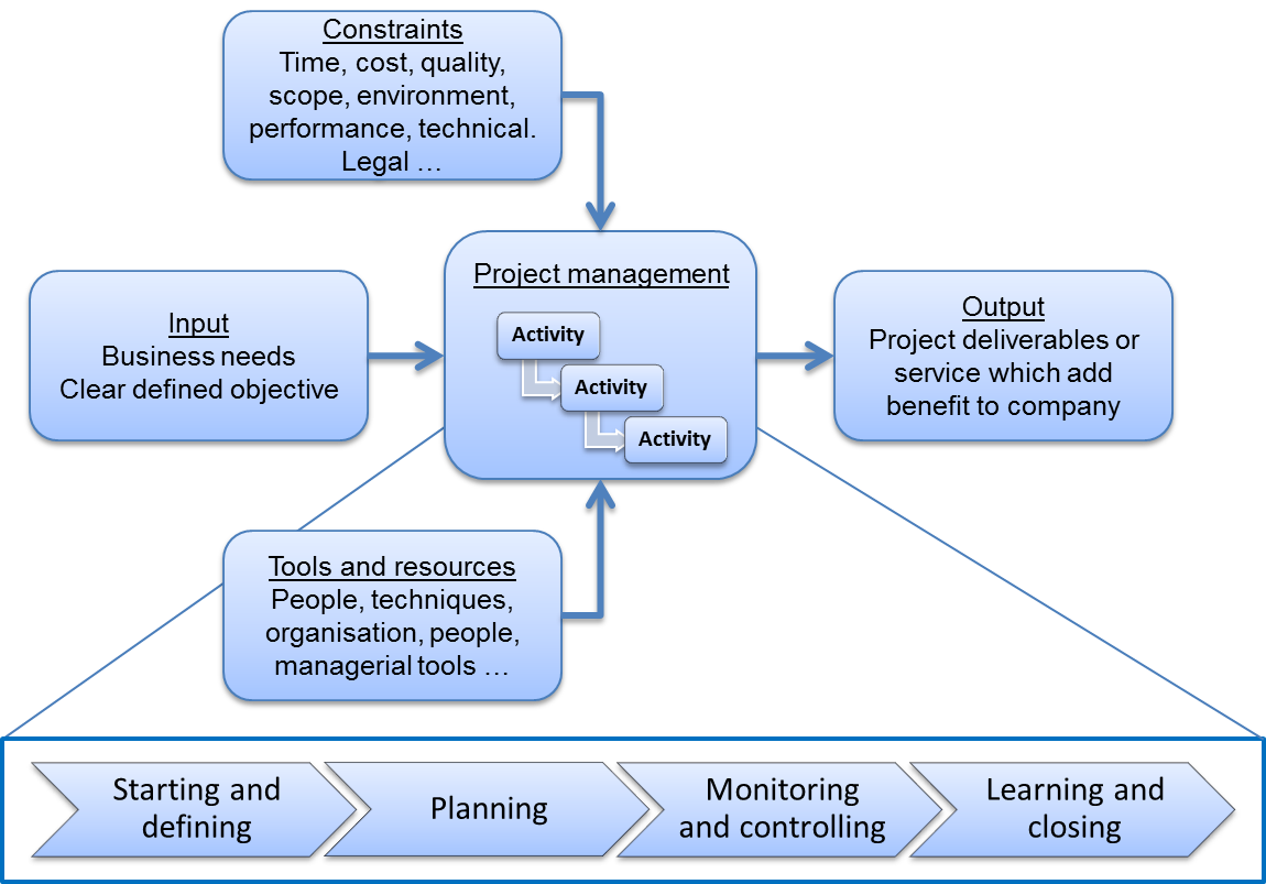 Vector continuity plan. Project management business stock