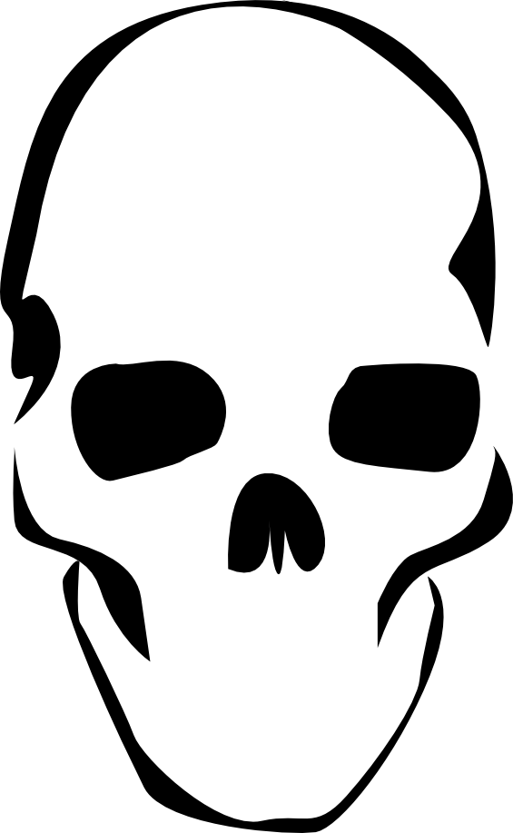 Vector cowboy cool skull. Stencil designs i think