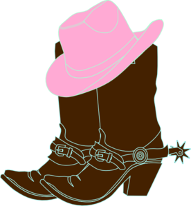Vector cowboy vintage. Cowgirl boots and pink