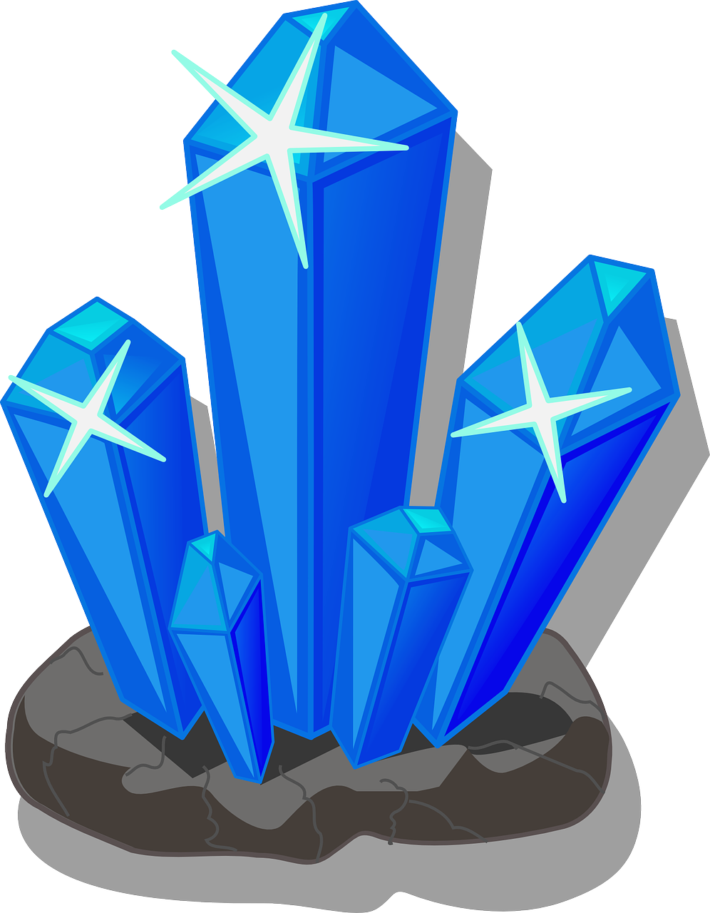 Vector crystal cave. Encode clipart to base