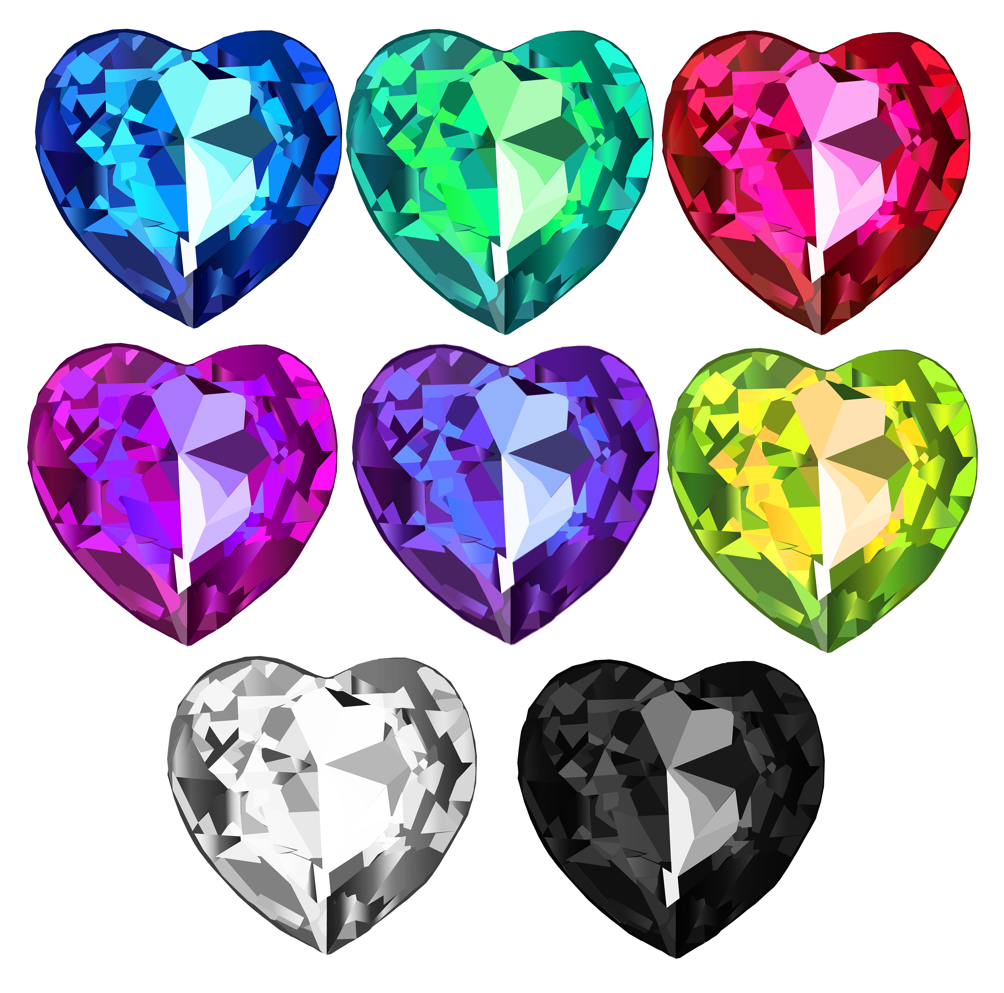 gemstone vector crystal swarovski