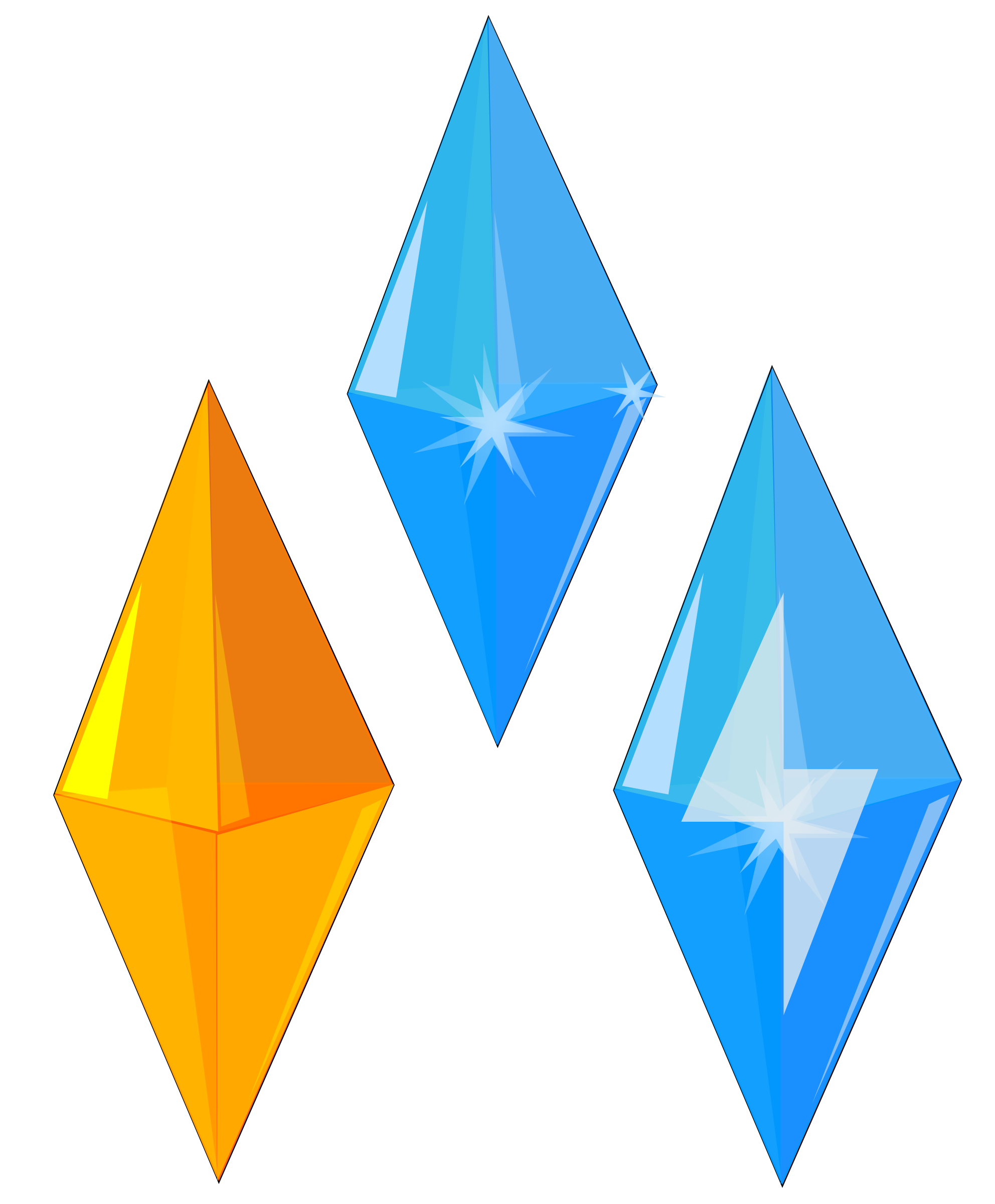 Vector crystal kryptonite. Collection of free gems
