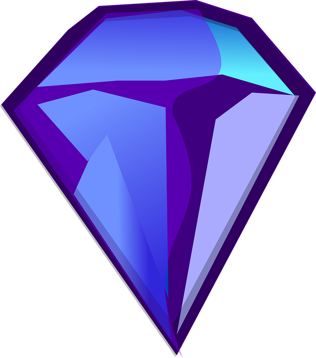 Vector crystal kryptonite. Collection of free gemmed