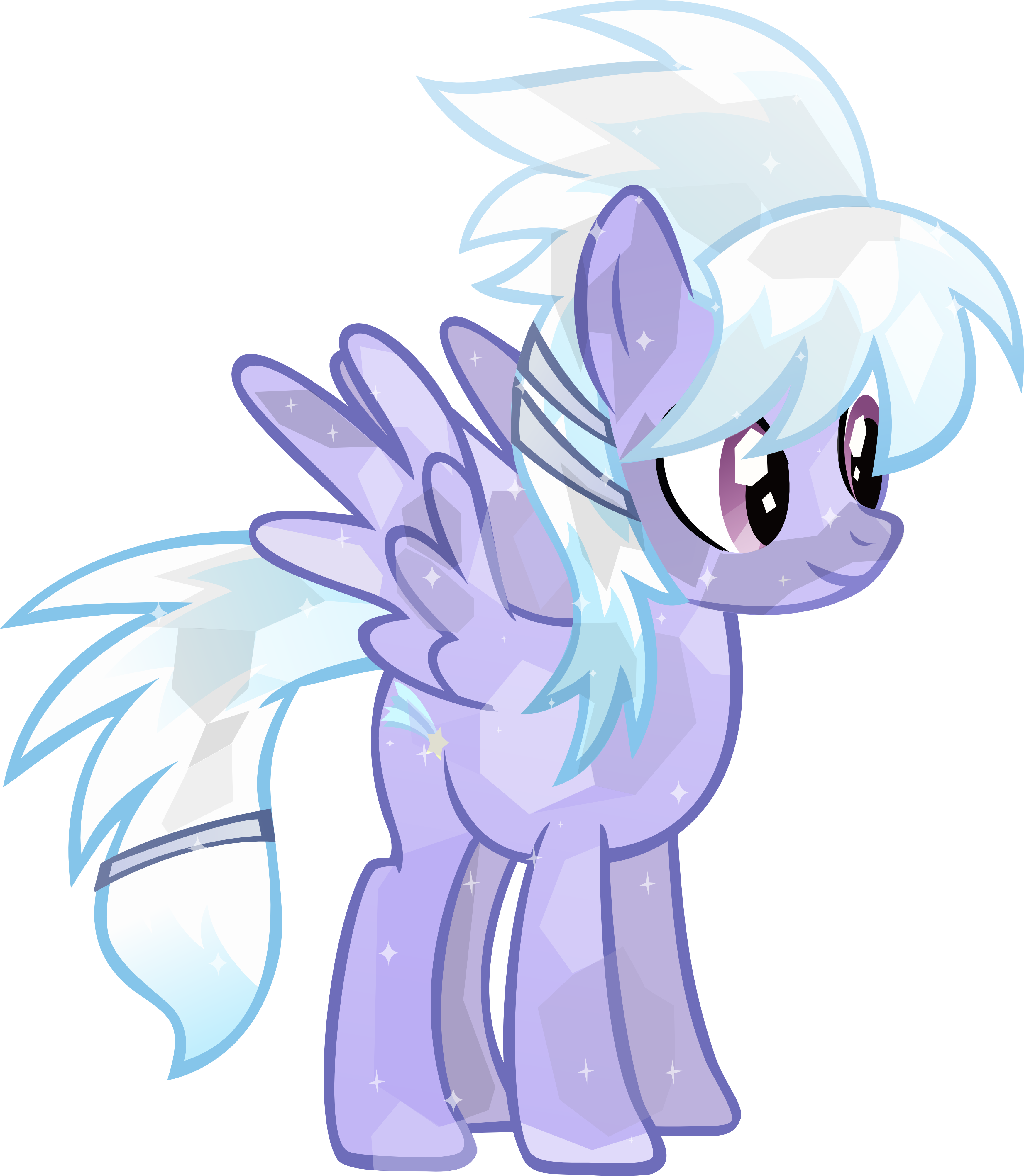 Emerald vector sparkling. Crystal cloudchaser by brony
