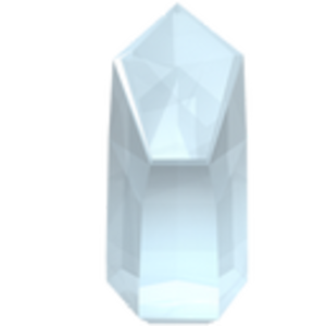 Vector crystal prism. Quartz icon free images