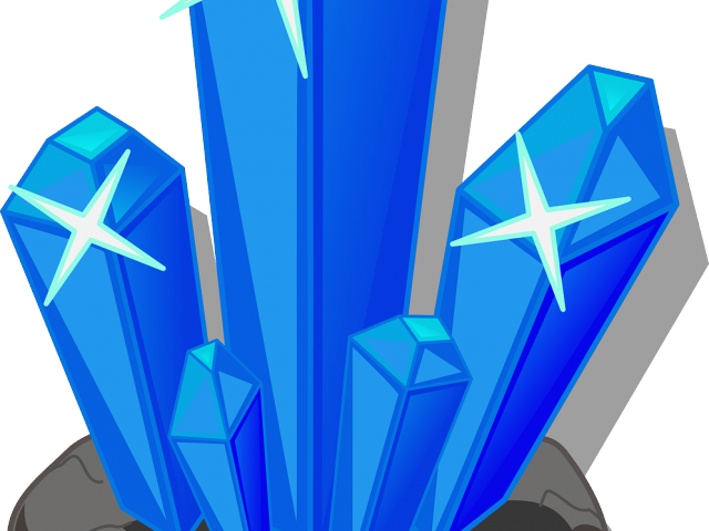 Vector crystal shard. Clipart ice graphics illustrations