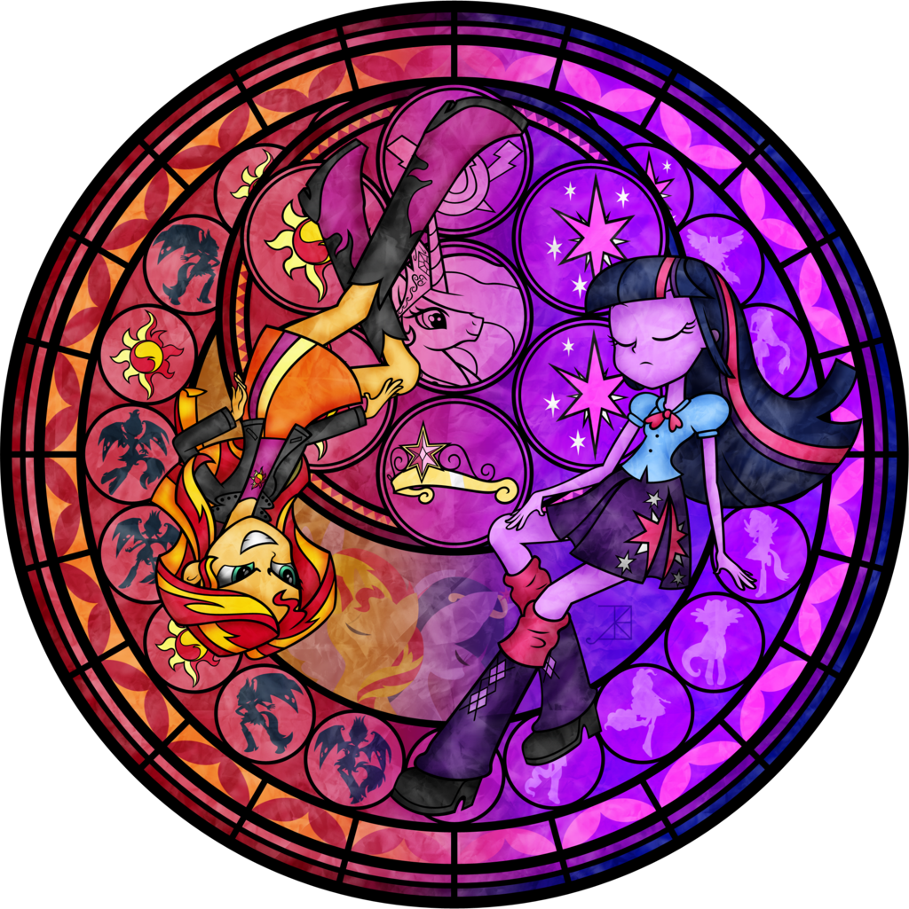 vector crystal stained glass