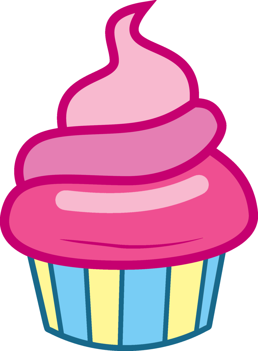Vector cupcakes. Image fanmade pink iced