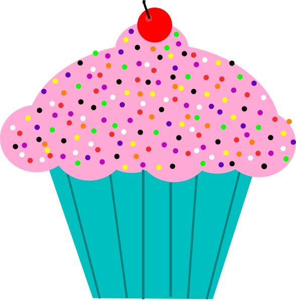 Vector cupcakes animated. Cupcake clipart
