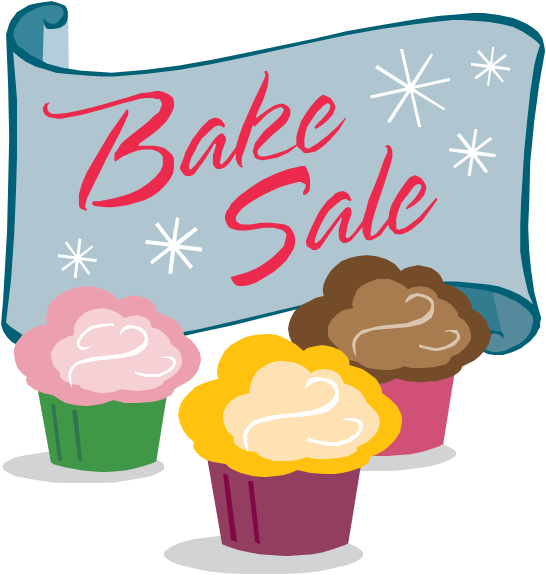 Vector cupcakes bake sale. Collection of free baked