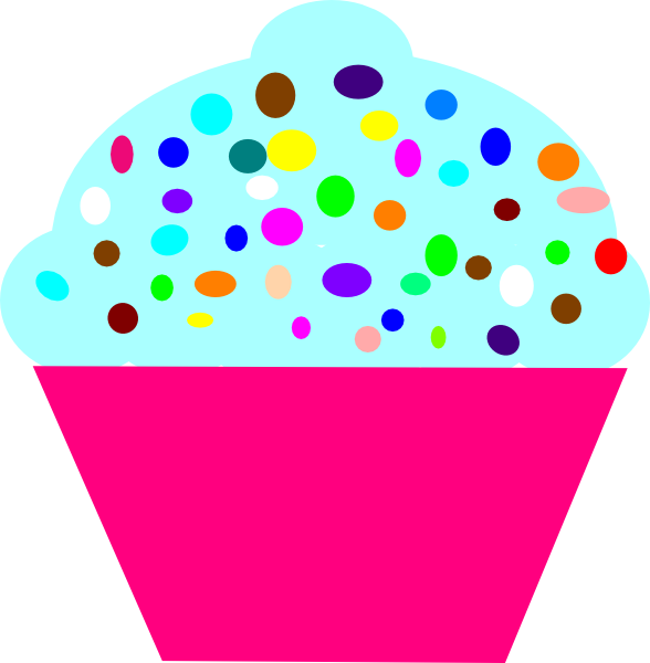 Vector cupcakes illustrated. Free cartoon pictures of