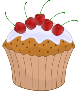 Vector cupcakes cherry. Cupcake clip art at