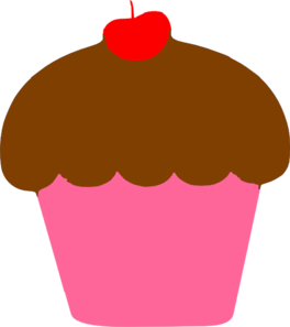 Vector cupcakes cherry. Cupcake with clip art
