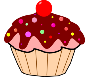Chocolate cupcake clip art. Muffin clipart baked goods transparent stock