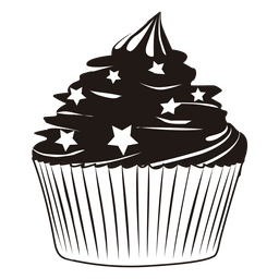 Vector cupcakes illustrated. Cupcake and heartbeat illustration