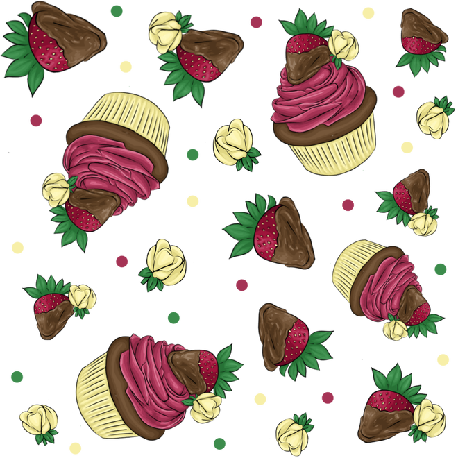 Vector cupcakes illustrated. Art
