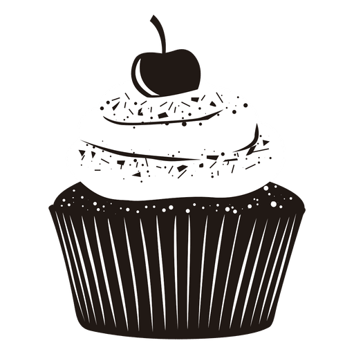 Vector cupcakes cherry. Download vanilla cupcake illustration