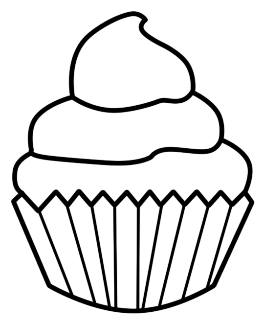 Cupcake lineart by alw. Shopkin drawing black and white picture library