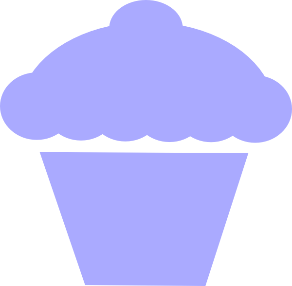 Vector cupcakes outline. Cupcake clip art at