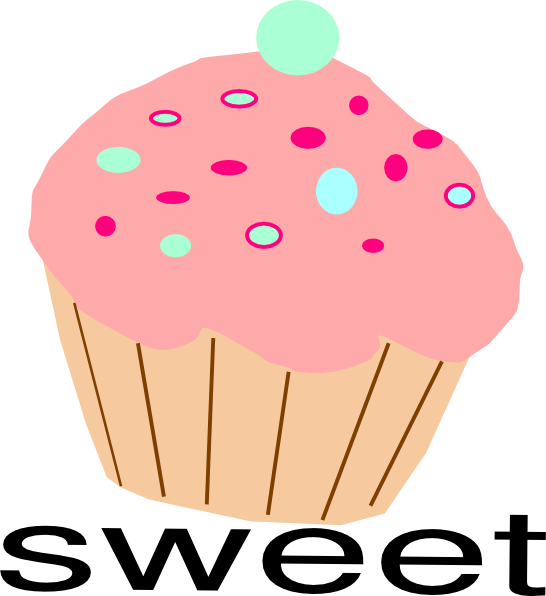 Vector cupcakes sprinkle clipart. Pink free download best