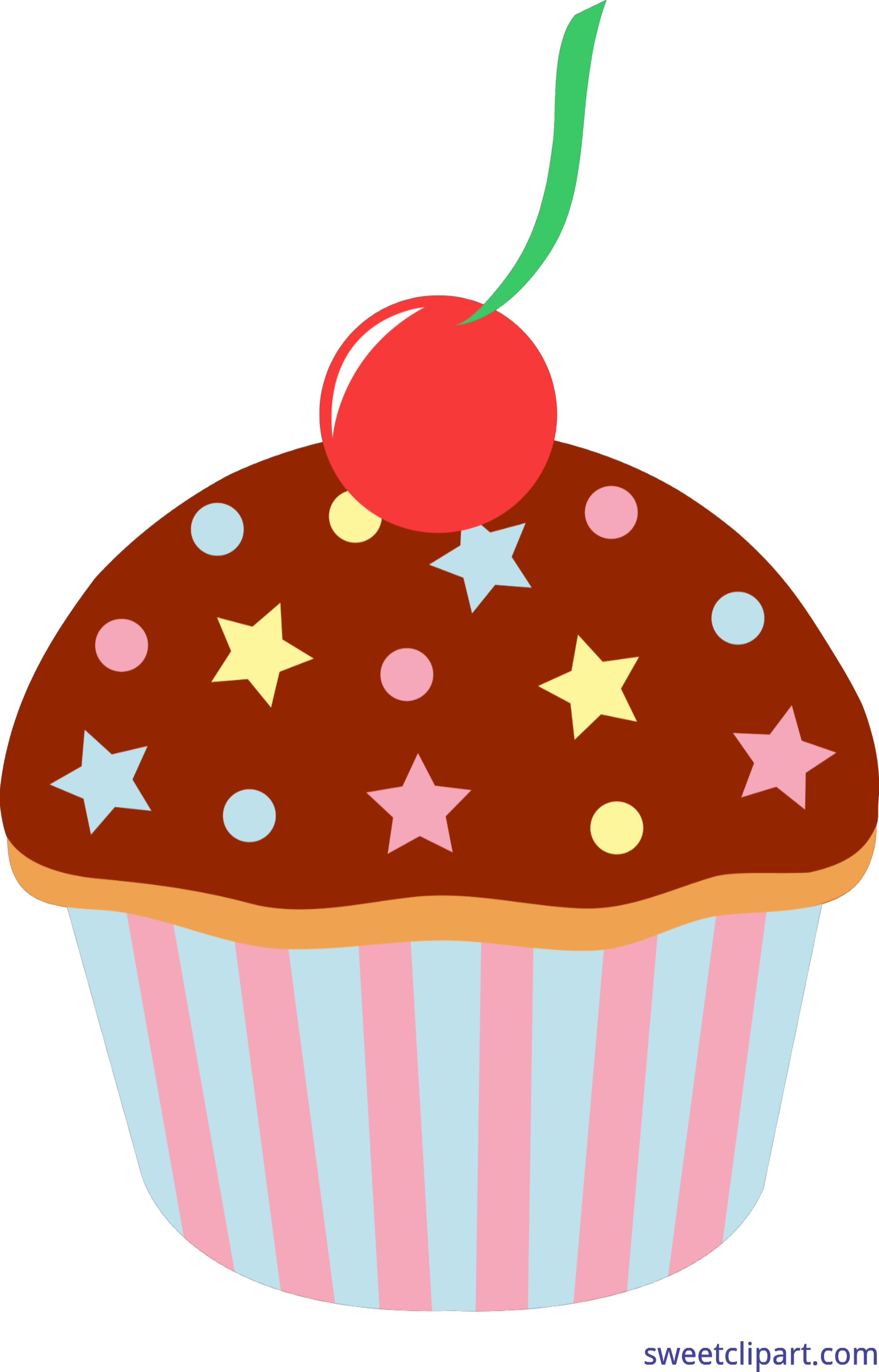 Vector cupcakes sprinkle clipart. Chocolate cupcake with sprinkles