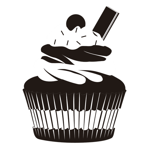Muffin svg cartoon. Cupcake illustration transparent png