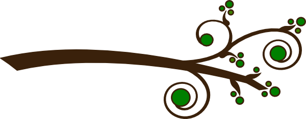 D vector curly. Collection of free branches