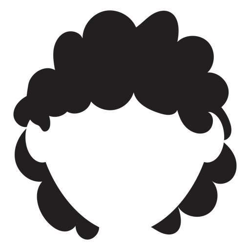 Braids vector short curly hair. Silhouette transparent png svg