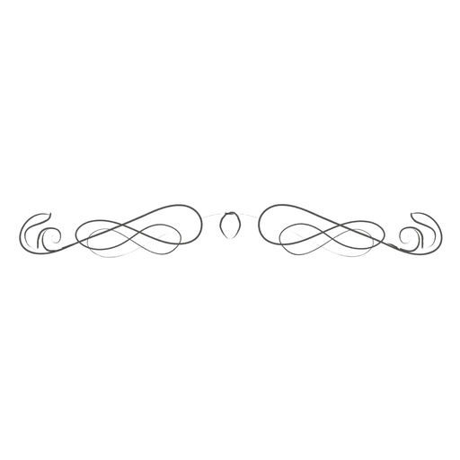 Vector curls hand drawn. Swirling divider transparent png