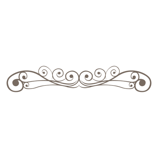 Vector curls ornate. Curly lines decoration transparent