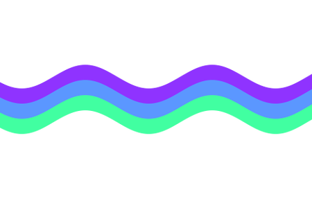 Vector curve abstract smooth color. Curved line design clipart