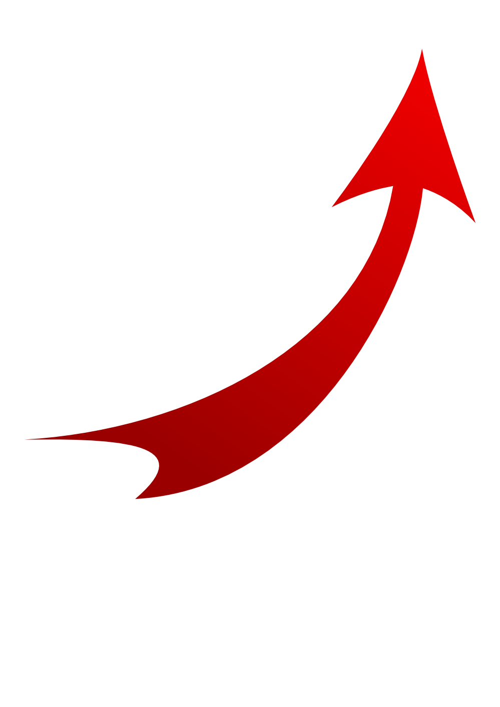 Vector curve maroon. Arrow with curved transparent