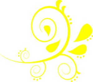 Curves vector yellow. Paisley bright clip art