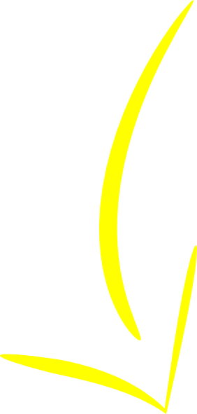 Yellow arrow png. Curved clip art at